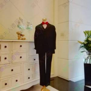 男花童黑色三件式西裝